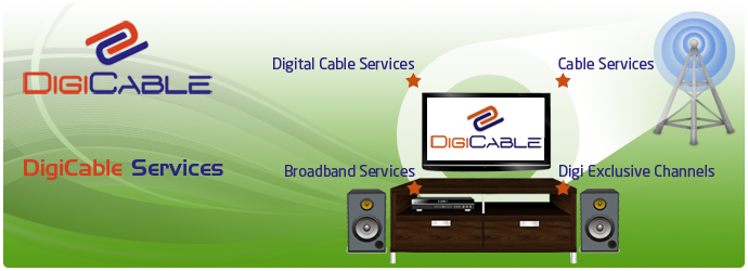 digital cable service, television service, television with internet service